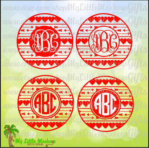 Valentine's Day Icons Monogram Base Digital Clipart & Cut File Instant Download Jpeg Png SVG EPS DXF Formats