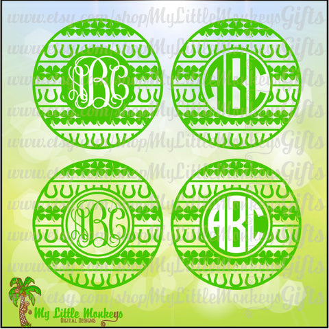 St. Patrick's Day Icons Monogram Base Design Commercial Use SVG Clipart and Cut File Instant Download