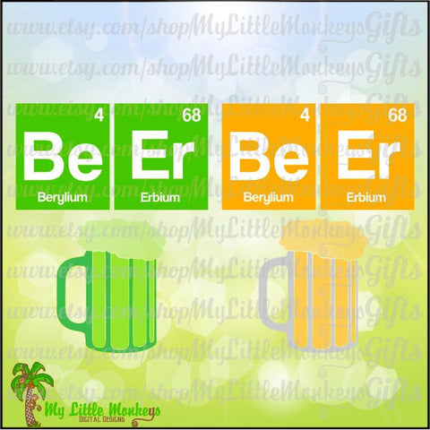 Beer Be Er Elements Green Beer Mug St. Patrick's Day Title Design Digital Clipart & Cut File Instant Download Jpeg Png SVG EPS DXF