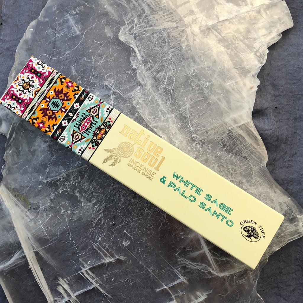 Røgelsespinde - Native Soul Incense - White Sage & Palo Santo