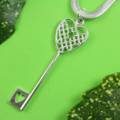A very special sterling silver pendant to tell the loved one that they have the key to their heart