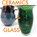 Irish ceramics made by contemporary craft designers, we offer tableware as well as sculptural ceramics. The glass we offer is blown glass or fused glass.