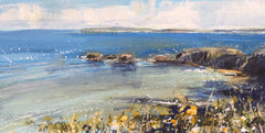 A wonderful oil painting of the sea - the main inspiration for Sarah Carrington's work - the opening day is on 28th May at 4pm