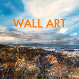 select paintings from Irish artists in different media: oils, watercolour, pastel, gouache or acrylics in different themes, abstract, portraits, wildlife, Irish landscapes and still life
