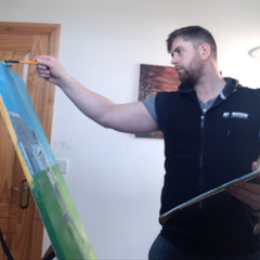 Tomas mcclements Ballycastle emerging artist specialising in oil paintings of local Causeway coast scenes
