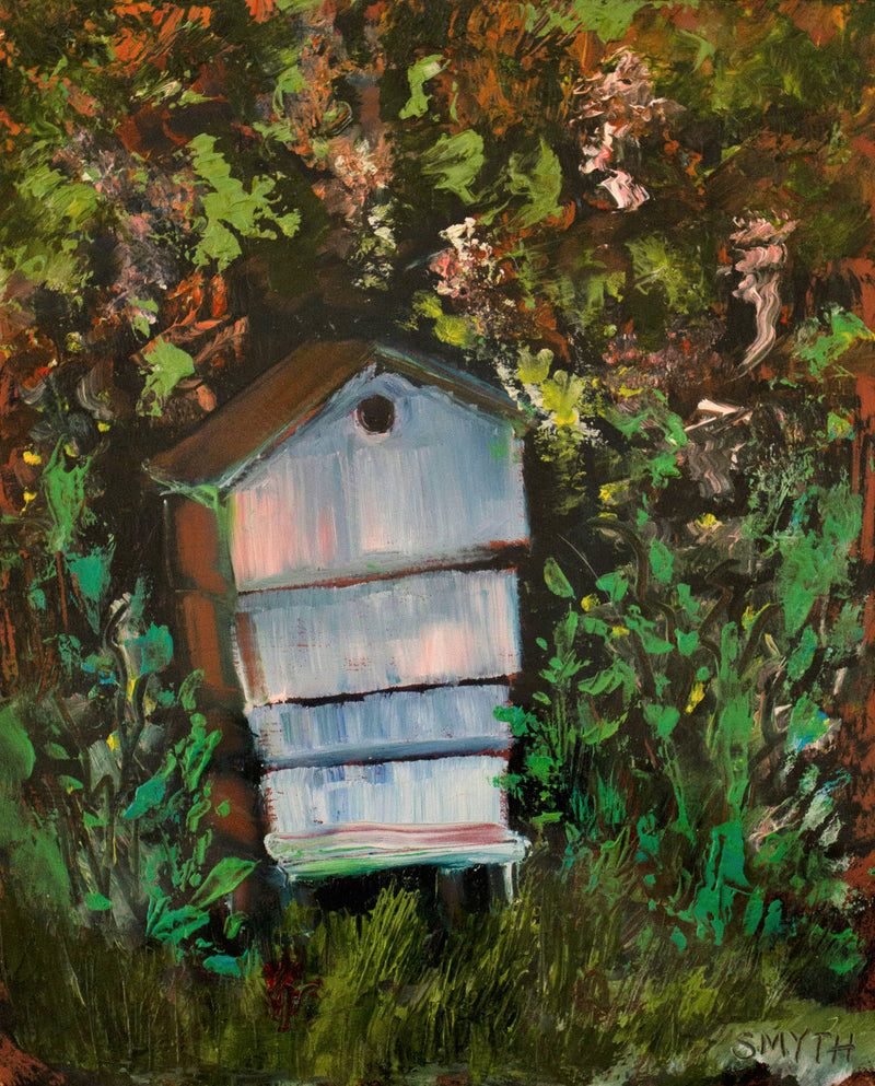 Grandmother's beehive - Irish Landscape painting by Sinead Smyth