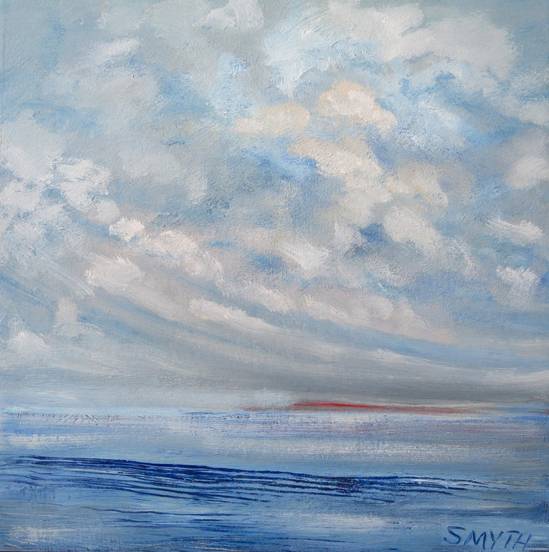 Island Light I - As the Day Goes - Irish Landscape painting by Sinead Smyth