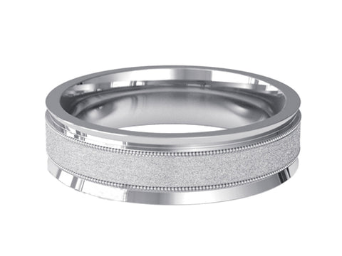 Gents Wedding ring (PALLADIUM OR PLATINUM) - Model RS-PB47