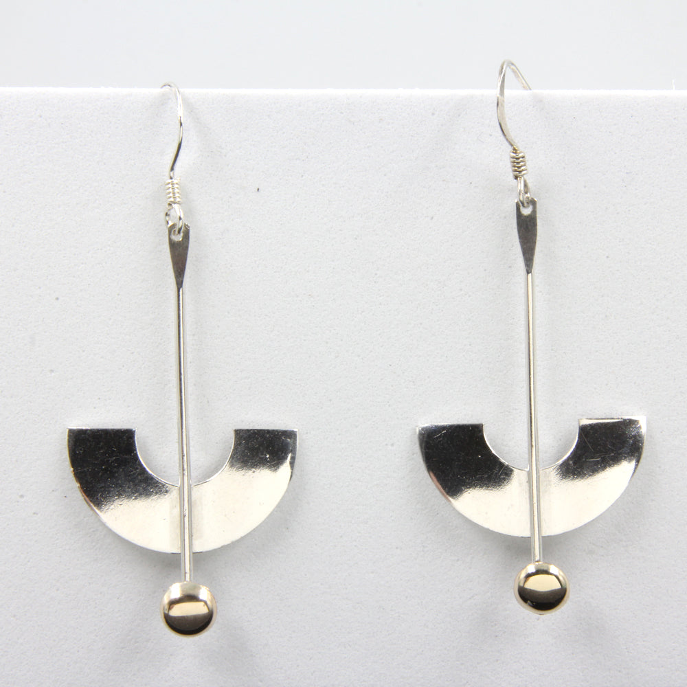 Sterling Silver and 18kt Gold Earrings