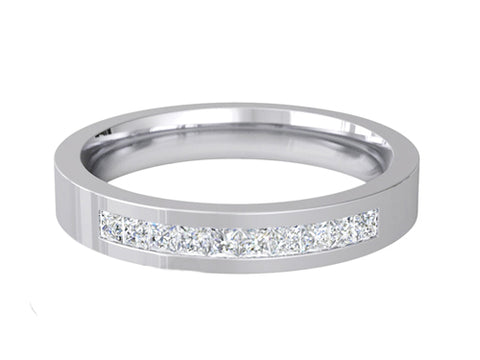 Ladies Diamond Wedding ring (PALLADIUM OR PLATINUM) -RS-PB65