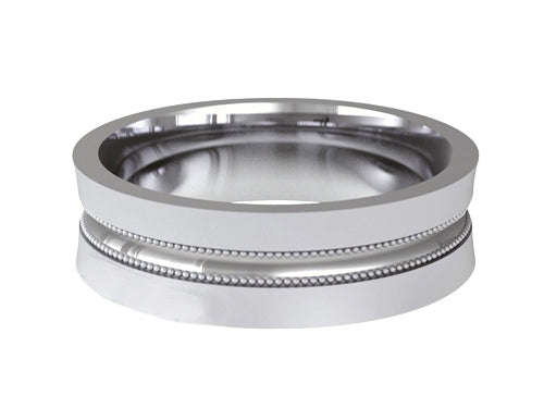 Gents Wedding ring (PALLADIUM OR PLATINUM) - Model RS-PB70