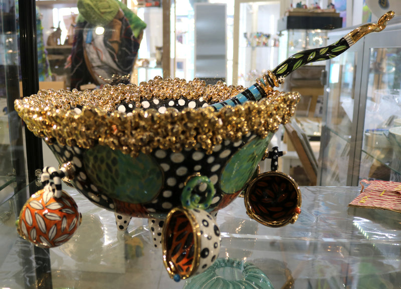 Ann-Marie Robinson - Little Orchard Punch Bowl , cups and ladle