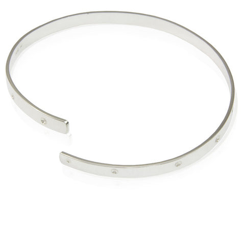 Sterling Silver Adjustable Bangle