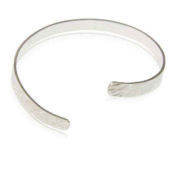 Textured Open Sterling Silver Bangle