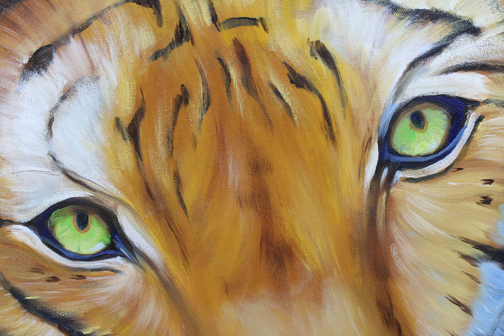 Bengal Tiger - Oil painting by Robert Spotten