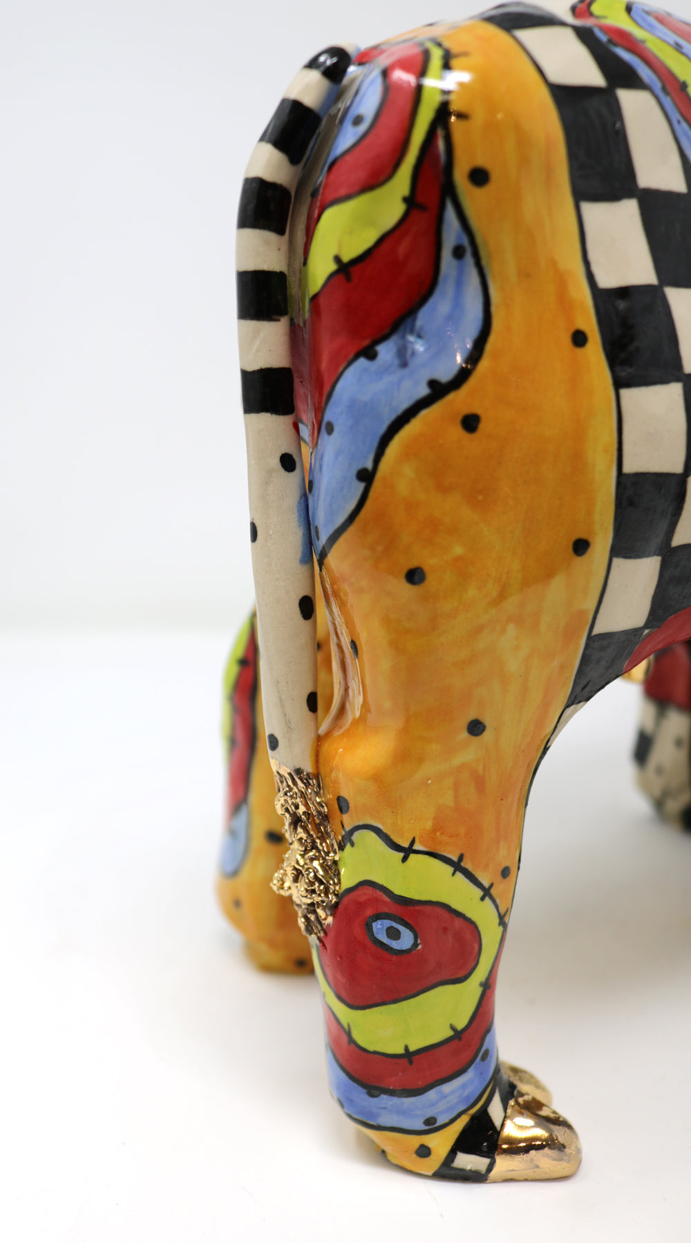 Bertha- the One and Only Circus Cow-  Unique Colourful Ceramics by Ann-Marie Robinson