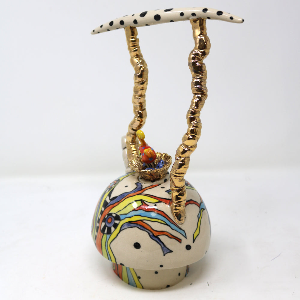 Bird in the Nest Teapot - A Unique Decorative Ceramic Teapot by A. M Robinson