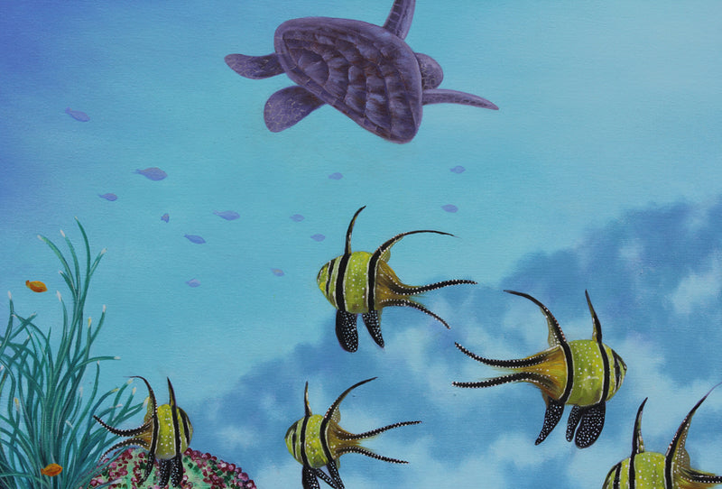 The Great Barrier Reef - Oil painting by Robert Spotten