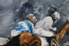 Dream Chasers - Horse race painting by JC Byrne