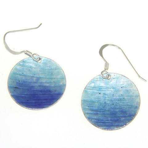 Enamelled Earrings (Round)
