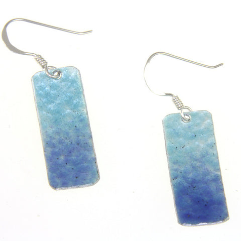 Long enamelled earrings