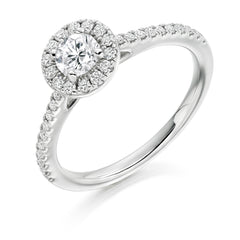 Cluster Engagement Ring 33pt (GOLD-PALLADIUM-PLATINUM)