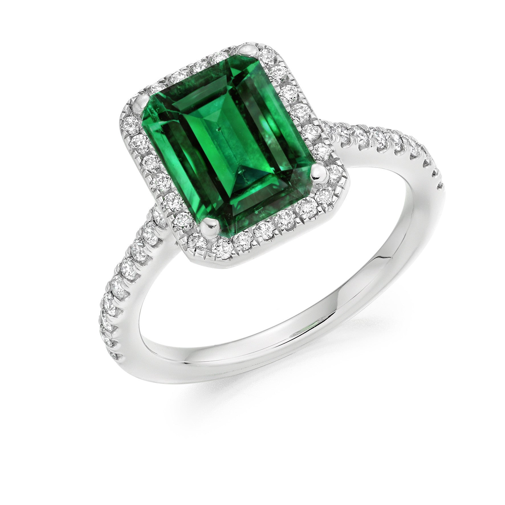 weight diamond total gold cut ct a gem in emerald jewelry ring white