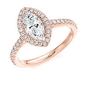 Cluster Engagement Ring 1CT -Marquise Cut (GOLD-PALLADIUM-PLATINUM)