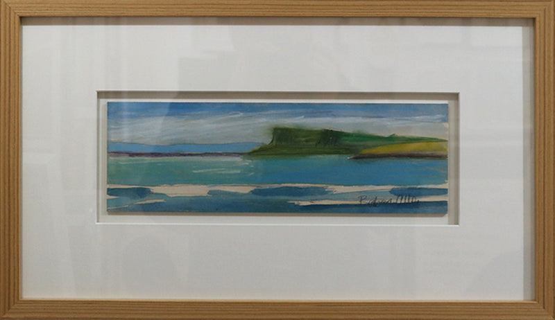 Fairhead, view from Ballycastle, Causeway Coast, Watercolour by Barbara Allen