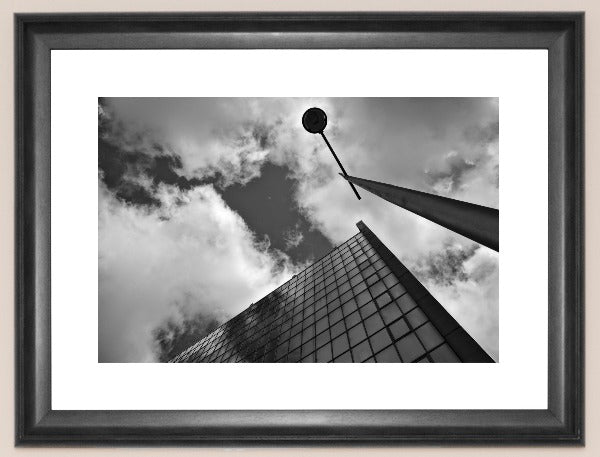 Tomb - Abstract Black and White Photograph of Tomb Street, Belfast, Ireland by Mathieu Decodts, Art Photographer
