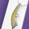 Half-moon Sterling Silver Pendant with Gold Plating by Robert Spotten