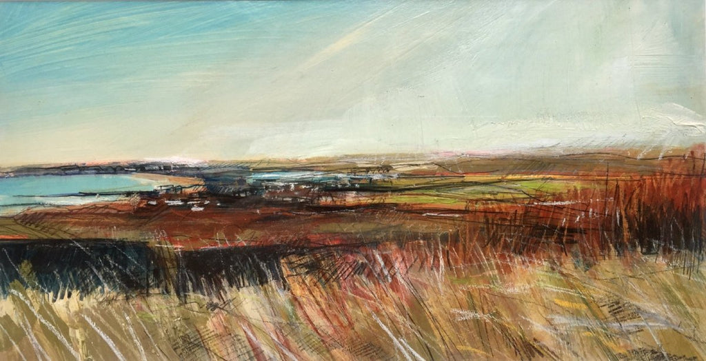 A beautiful landscape by Sarah Carrington, a Scottish artist now settled in Northern Ireland.