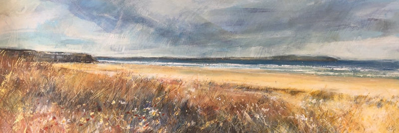 Grasses and Flowers, Castlerock , Causeway Coast by Sarah Carrington