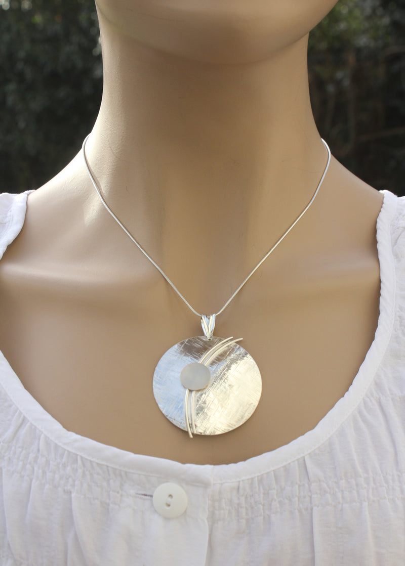 Sterling Silver and Gold Designer Necklace by Robert Spotten