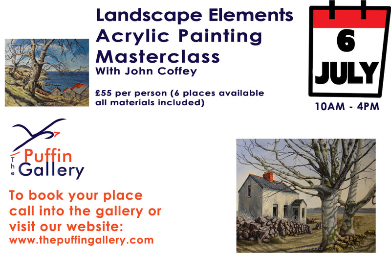 Masterclass - Elements of Landscape in Acrylics with John Coffey