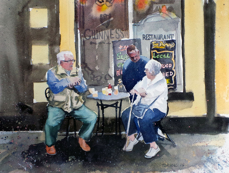 "Thomas McNeill - ""Lammas Fair Tipple"" - Watercolour"