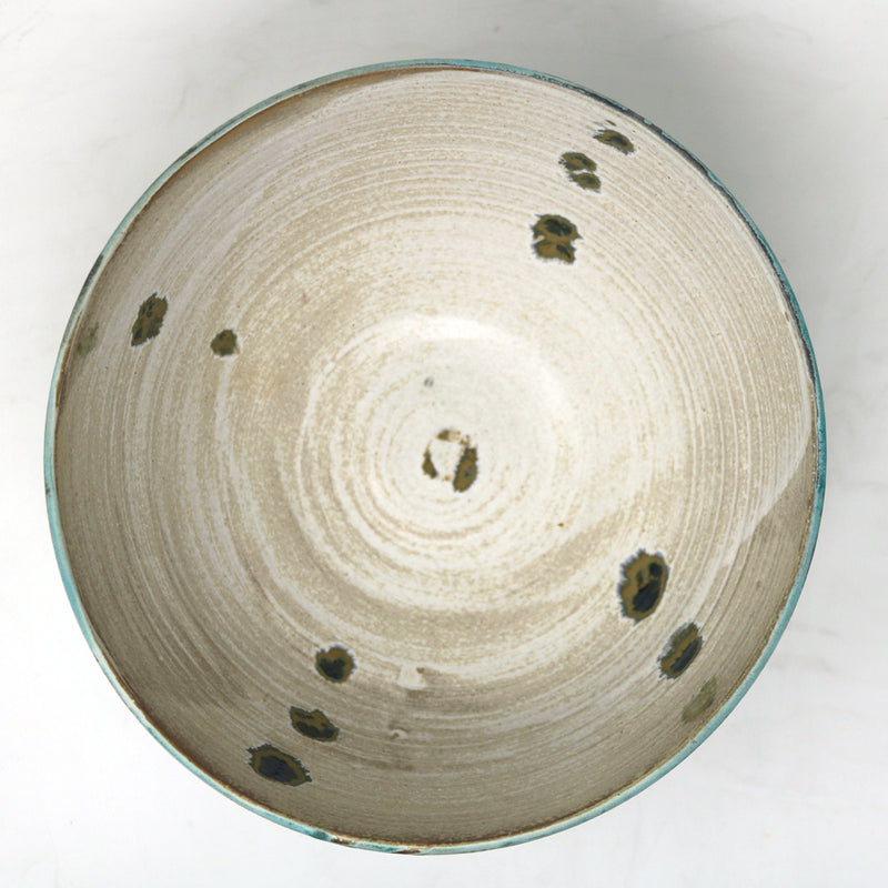 Alan McCluney - Large Medium Turquoise on Light Grey Bowl