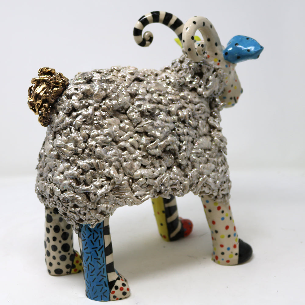 Mutton the Delectable Ram -  Unique Colourful Ceramics by Ann-Marie Robinson