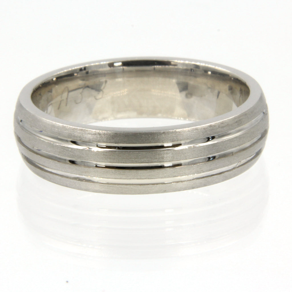 Gents Wedding ring (PALLADIUM OR PLATINUM) - Model RS-PB33
