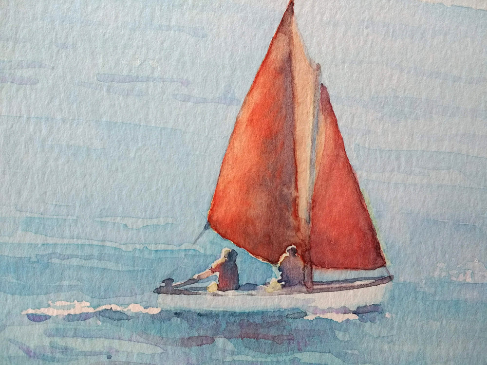 Catching the Breeze (Portrush) - Watercolour by Peter Shaw