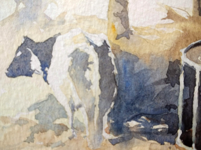 Crisp Winter Morning on an Irish Farm - Watercolour by Peter Shaw