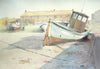 Dry Dock (Rathlin Island)- Watercolour by Peter Shaw