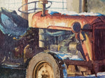 Old Tractor on an Irish Farm on a Winter day- Watercolour by Peter Shaw