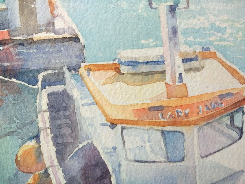 Portstewart Harbour- Watercolour by Peter Shaw