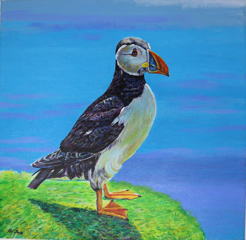 Alison Jess -  Looking out unto the Sea - Puffin I