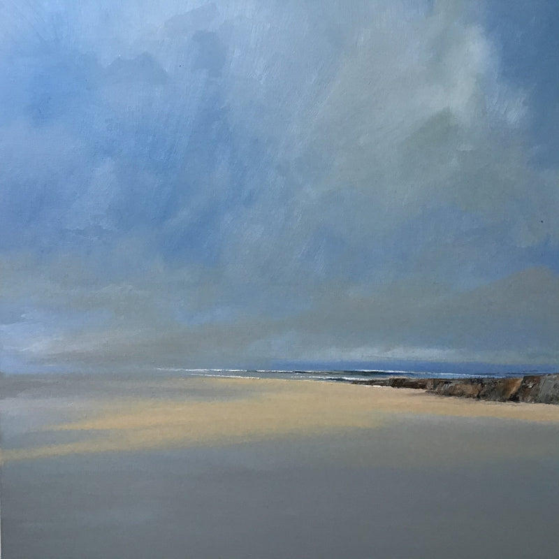 Quiet Beach - Large Square Irish Seascape oil painting by James McNulty