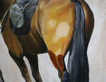 Ready the Horses - Horse portrait painting by JC Byrne