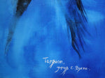 Tension- Horse portrait painting by JC Byrne