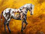 Walk Softly - Horse portrait painting by JC Byrne
