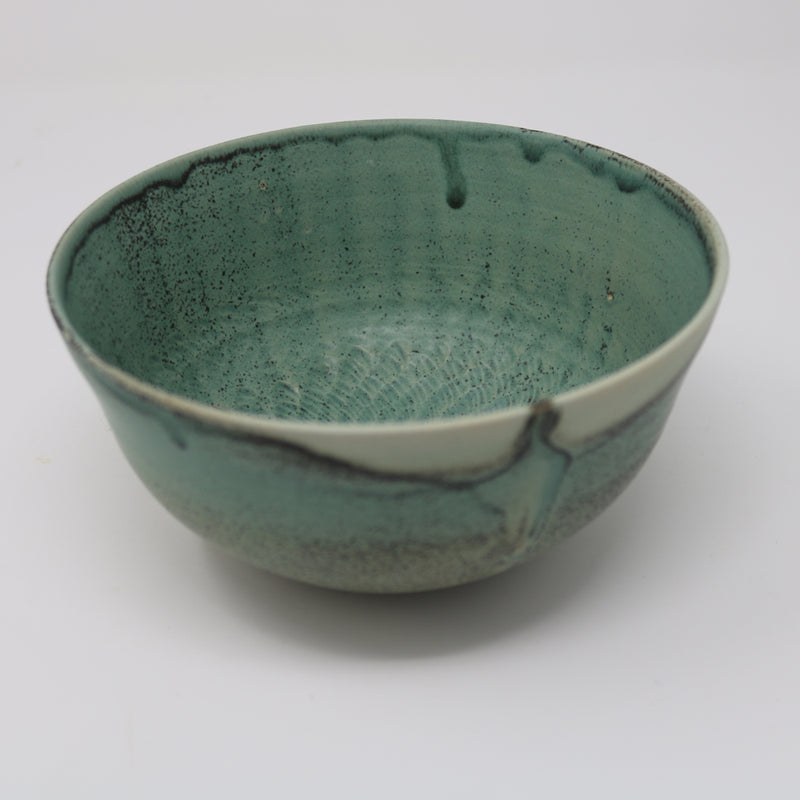 Alan McCluney - Green glazed Bowl